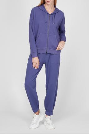 Женский фиолетовый спортивный костюм (худи, брюки) 1