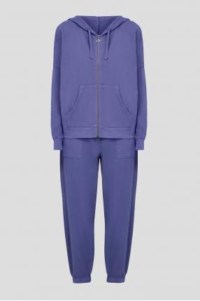 Женский фиолетовый спортивный костюм (худи, брюки)