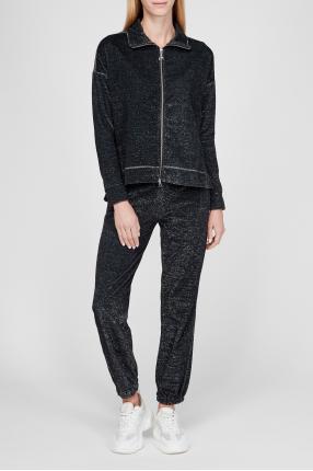 Женский черный костюм (кофта, брюки) 1