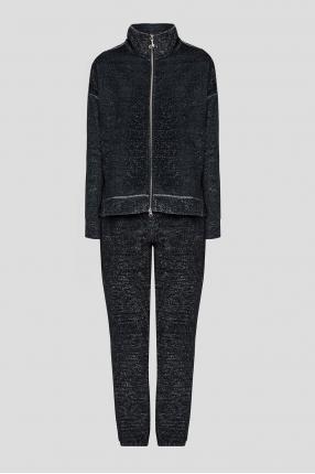Женский черный костюм (кофта, брюки)