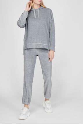 Женский серый костюм (худи, брюки) 1