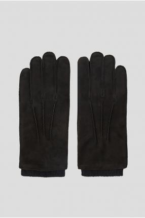 Чоловічі чорні замшеві рукавички