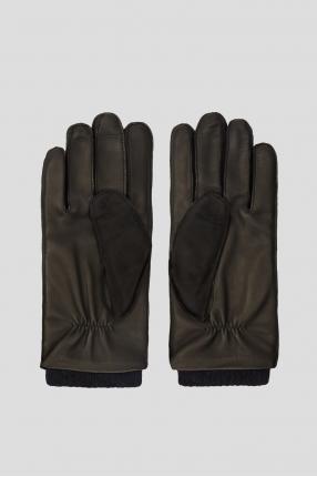 Чоловічі чорні замшеві рукавички 1