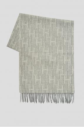 Чоловічий сірий кашеміровий шарф