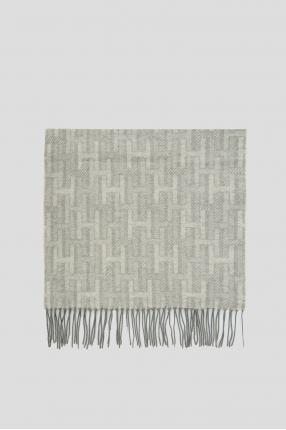 Чоловічий сірий кашеміровий шарф 1