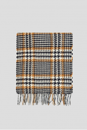 Чоловічий вовняний шарф з візерунком 1