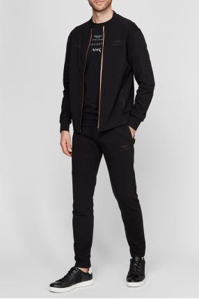 Чоловічий чорний спортивний костюм (кофта, штани) 1