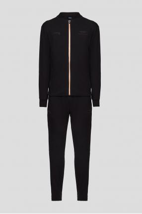 Чоловічий чорний спортивний костюм (кофта, штани)