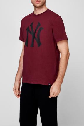 Мужская бордовая футболка 1