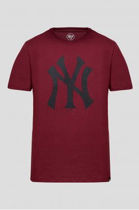Мужская бордовая футболка