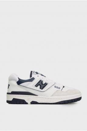 Мужские белые кожаные кроссовки 550