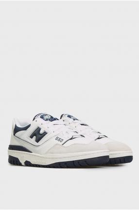 Мужские белые кожаные кроссовки 550 1