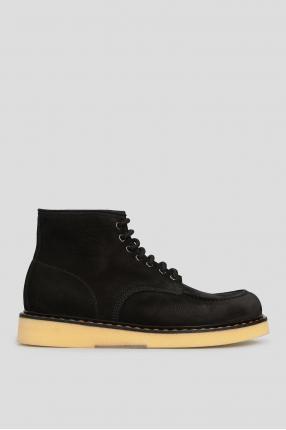 Мужские черные кожаные ботинки Moc Toe