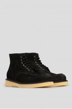 Мужские черные кожаные ботинки Moc Toe 1