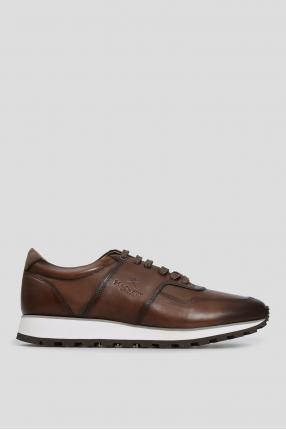 Мужские коричневые кожаные кроссовки