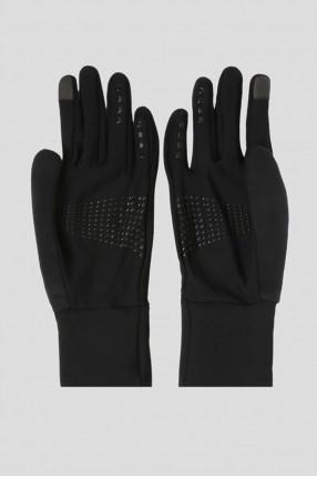 Черные перчатки GLOVES BRUSHED 1