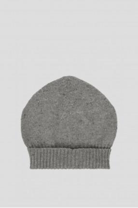Женская серая кашемировая шапка 1
