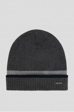 Мужская серая шапка