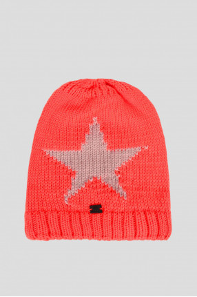 Мужская красная шапка с узором