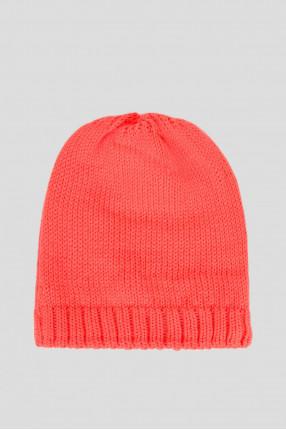 Мужская красная шапка с узором 1