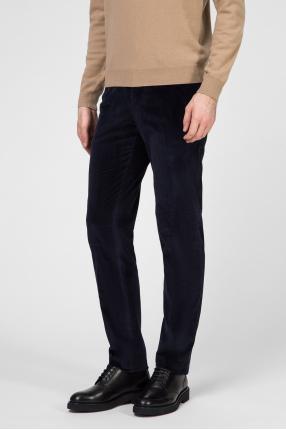 Мужские синие вельветовые брюки 1