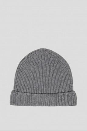 Серая шерстяная шапка 1