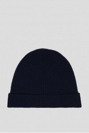 Синяя шерстяная шапка 1