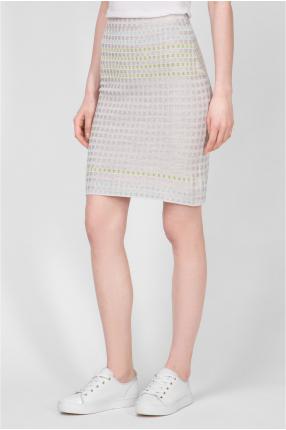Женская серая шелковая юбка 1