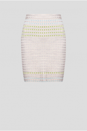 Женская серая шелковая юбка