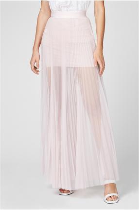 Женская розовая юбка-плиссе 1