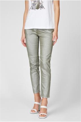 Женские зеленые джинсы 1