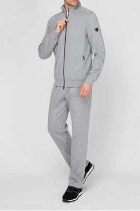 Мужской серый спортивный костюм (кофта, брюки) 1