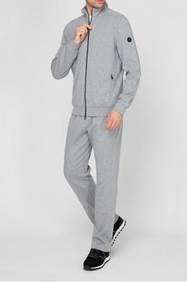 Мужской серый спортивный костюм (кофта, брюки) 2