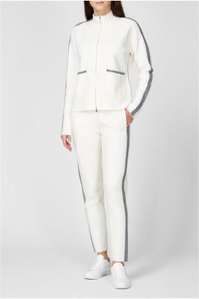Женский белый спортивный костюм (кофта, брюки) 1