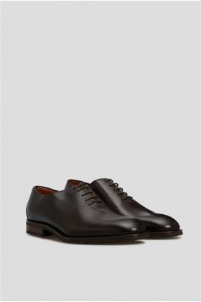 Мужские коричневые кожаные дерби 1