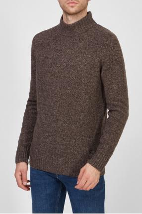 Мужской коричневый свитер 1