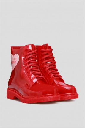 Женские красные ботинки 1
