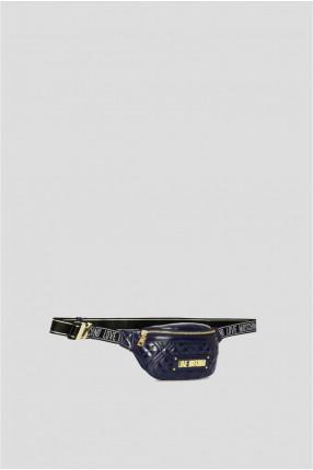 Женская темно-синяя поясная сумка 1
