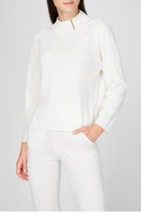 Женский белый шерстяной джемпер 1