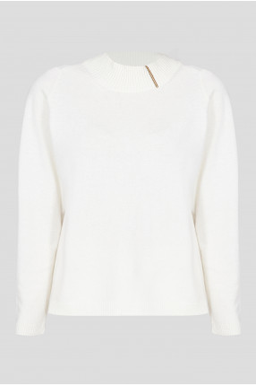 Женский белый шерстяной джемпер