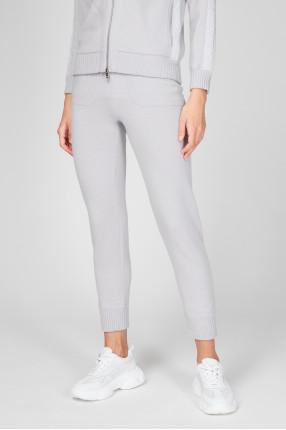 Женские серые шерстяные спортивные брюки 1