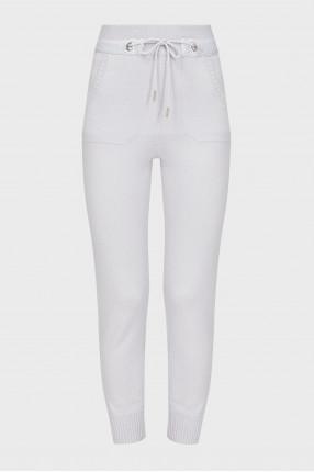 Женские серые шерстяные спортивные брюки
