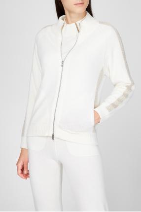 Женский белый шерстяной кардиган 1