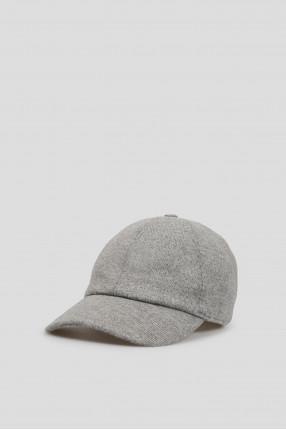 Мужская серая шерстяная кепка 1
