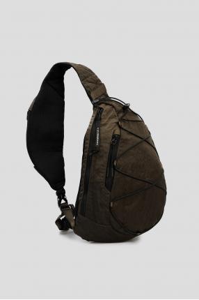 Мужская зеленая сумка через плечо 1