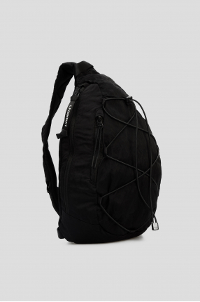 Мужская черная сумка через плечо 1