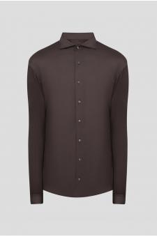 Мужская темно-коричневая рубашка