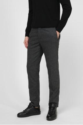 Мужские темно-серые шерстяные брюки 1