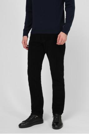 Мужские черные вельветовые брюки 1