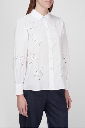 Женская белая блуза 1